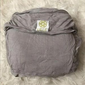 Grey lillebaby soft wrap infant carrier